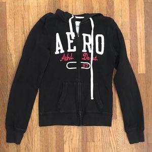 Aeropostale Zip Up Hooded Sweatshirt